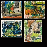 paysages (4 works) by bernard dufour
