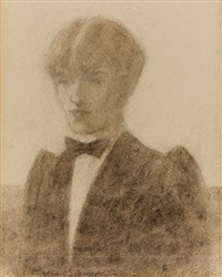 self-portrait (the art editor of the yellow book) by aubrey vincent beardsley