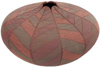 incised polychrome pot with leaf design by richard zane smith
