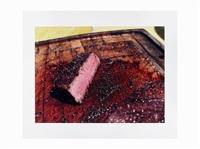 steak on cutting board by bill owens