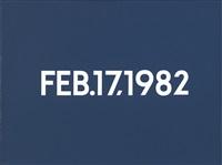 feb. 17, 1982 by on kawara