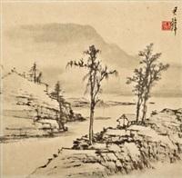 江色 镜框 水墨纸本 by huang junbi