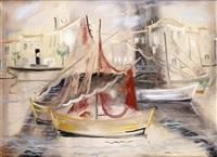 bateaux de pêche dans un port de la méditerranée by giorgios (gounaro) gounaropoulos
