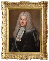 portrait de philibert orry (1689-1747), contrôleur général des finances et directeur général des bâtiments du roi by hyacinthe rigaud and charles sevin de la penaye