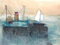 barcos en la mar by maría antonia dans