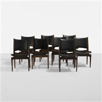 rare egyptian chairs (set of 8) by finn juhl