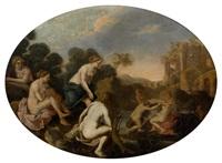 diane découvrant la grossesse de callisto by cornelis van poelenburgh