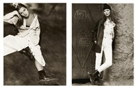 kate moss in marrackech (2 works) by albert watson