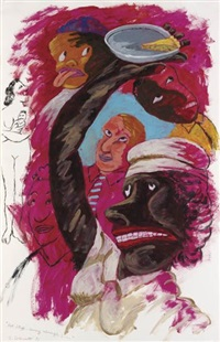 hot stuff - coming through!... by robert h. colescott