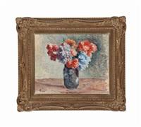 fleurs dans un vase by maximilien luce