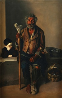 viejo con niño by josé agustín arrieta