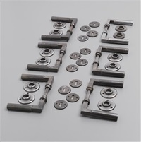 door handles with lock plates (set of 6) by walter gropius