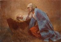 maria mit dem jesusknaben by eduard ansen-hofmann
