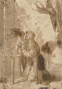 the christ child appearing to saint mary magdalen dei pazzi by alonso cano