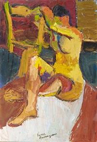 modèle nu assis by pierre ambrogiani
