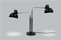 dual desk light, kaiser idell (model no. 6580) by christian dell