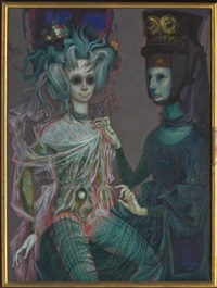 celestina ataviando a melibea postmortem by jorge quiroz
