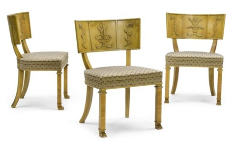 suite de 3 chaises model caesarset of 3 by axel einar hjorth