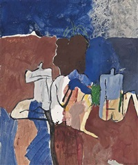 bathers by the reservoir: marrakesh by keith vaughan
