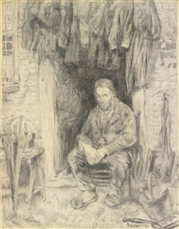 son of the ancient people (a seated man) by jozef israëls