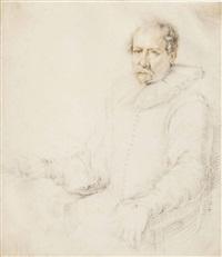 portrait of a seated man in an armchair by jacques de gheyn ii
