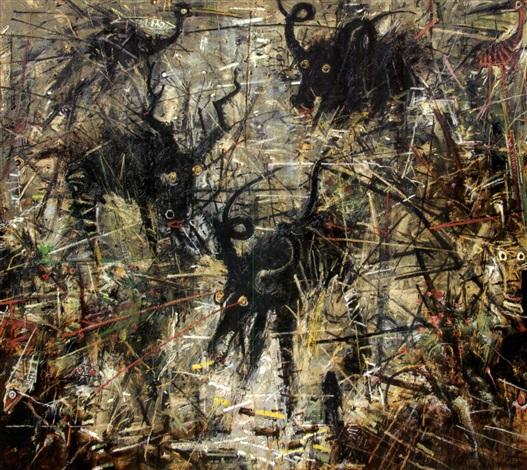 three frightened beast by john alexander