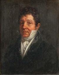 portrait présumé de m. froissinet en buste, gilet, chemise et cravate blanche by louis-charles-auguste couder