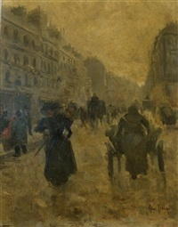les boulevards parisiens by louis abel-truchet