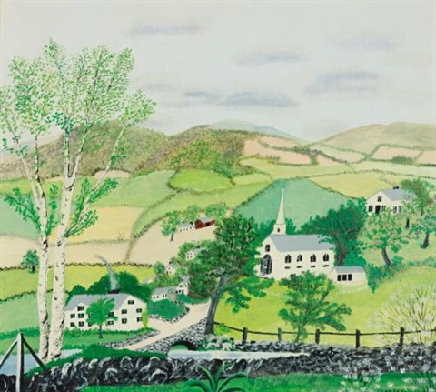 a may morning by grandma moses