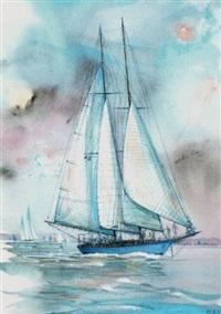 """le yacht """"mariette"""", bateau mythique de la nioulargue by laurent le pont"""
