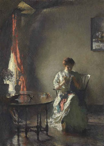 the seamstress by frank weston benson