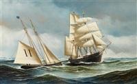 the pilot schooner, phantom by antonio jacobsen
