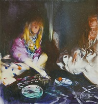 at the hippies' dinner by tibor csernus