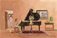 piano room by lorna millar