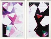 three sided mirrored pair (bcm), november 24th, los angeles, california, kodak supra, 2008 (diptych) by walead beshty