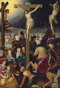 the crucifixion by louis de caullery