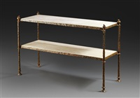 console table with marble by diego giacometti