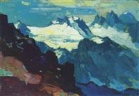winterberg, verhuffspitze, gr. litzner, gr. seehorn, hochmaderer by konrad honold