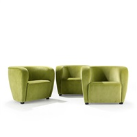 armchairs (set of 3) by jindrich halabala