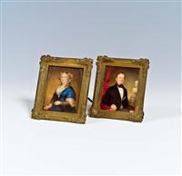 paar porträtminiaturen by alois von anreiter