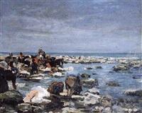 la pêche aux crevettes by pierre billet