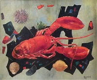 nature morte au homard by tony agostini