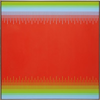soft cadmium red ii by richard anuszkiewicz
