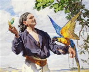 the man with a macaw by anna airy