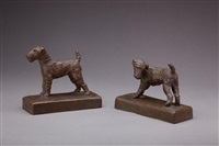 terrier bookends by edith barretto stevens parsons