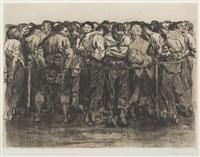 die gefangenen (the prisoners) by käthe kollwitz