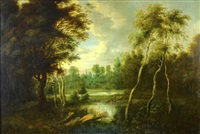 landscape with marshes by jacques d' arthois