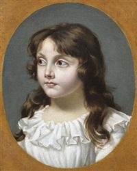 portrait de la fille du conventionnel girondin gensonné by joseph boze