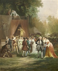 performance in the park by léonard saurfelt