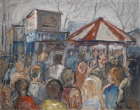 london, portobello road market by georg eisler